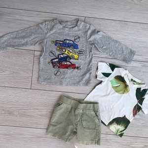 Baby Boy's Shirt & Shorts Set Bundle